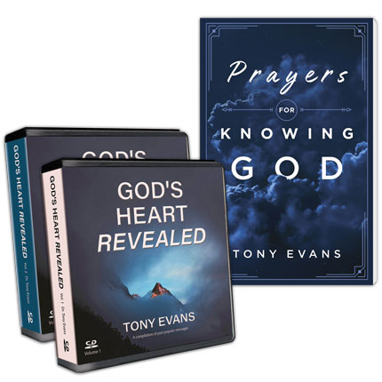 God's Heart Revealed Volume 1 & 2 CD Series AND Prayers for Knowing God (New Book)