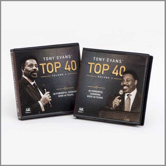 Tony Evans' Top 40: 40 Powerful Sermons over 40 Years Volume 3 & 4 CD Series